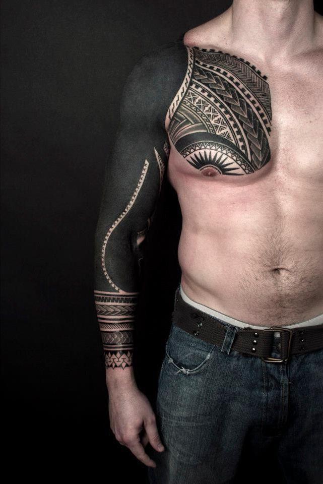 One Awesome Blackwork tattoo Sleeve                                                                                                                                                                                 Más