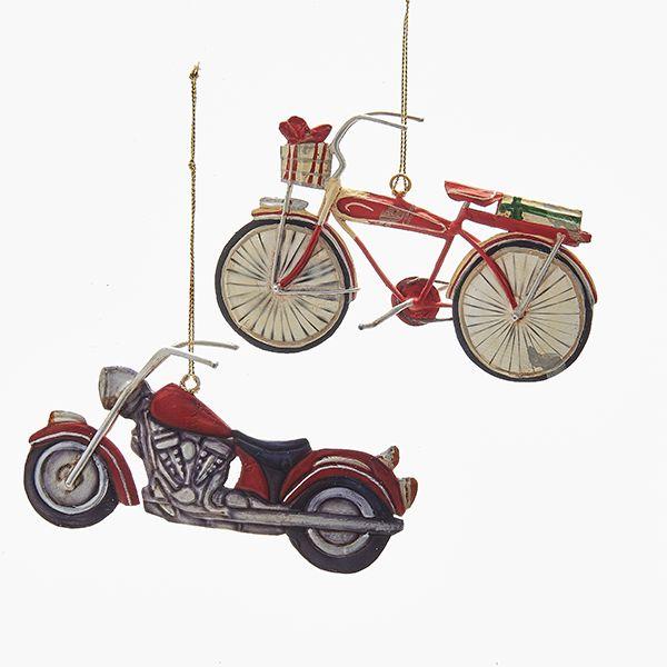 TIN 2D BIKE & MOTORCYCLE ORNAMENTS #VINTAGECHRISTMAS #VINTAGEMOTORCYCLE