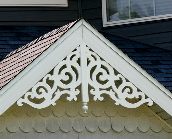 Maintenance-free gable decorations at discount prices: WholesaleMillwork.com $176.85... for garden shed