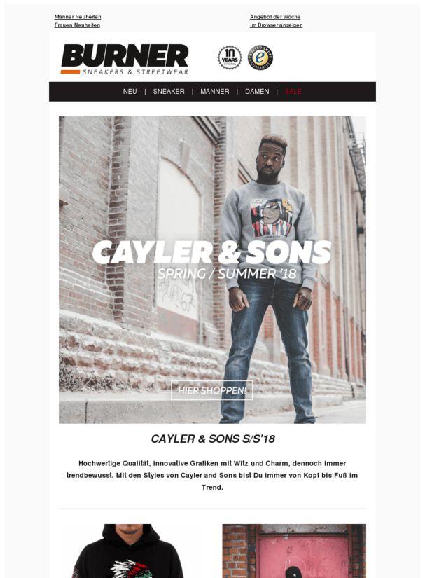 🔥Neue Cayler & Sons Oberteile - Nike Jordan Styles und Reell Hosen - Jetzt bei Burner.de