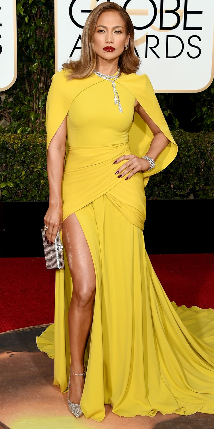 Eric Wilson's Top 10 Best Dressed at the 2016 Golden Globes - Jennifer Lopez in Giambattista Valli  - from InStyle.com