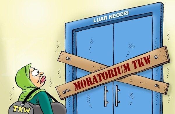 Kartun Benny, Kontan - Mei 2015: Moratorium TKI Pembantu