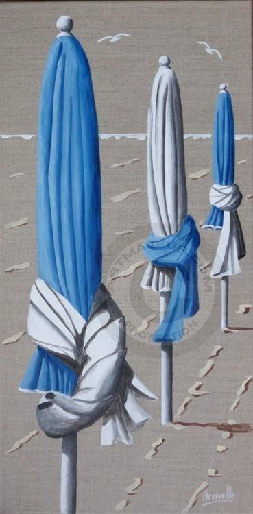 parasols bleus