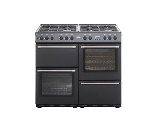 Belling COUNTRYCLASSIC100DF Dual Fuel Range Cooker Freestanding Black