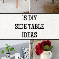15 DIY Side Table Ideas That Are Easy And Cheap To Build