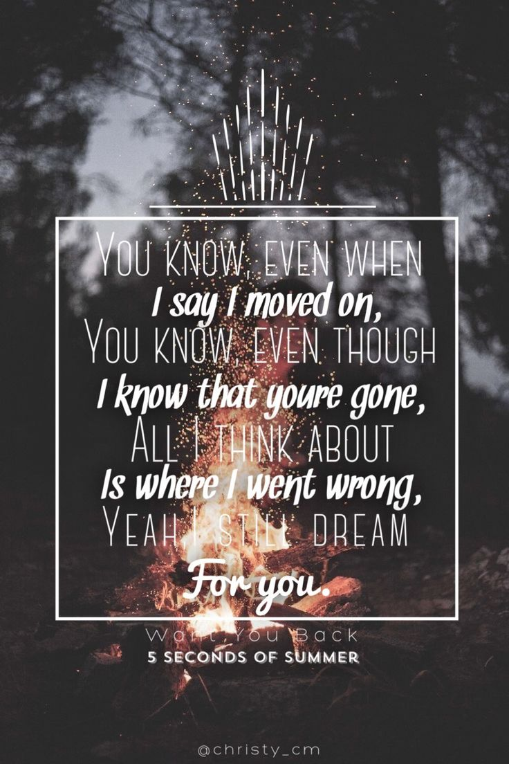 Want You Back / 5SOS made by @christy_cm