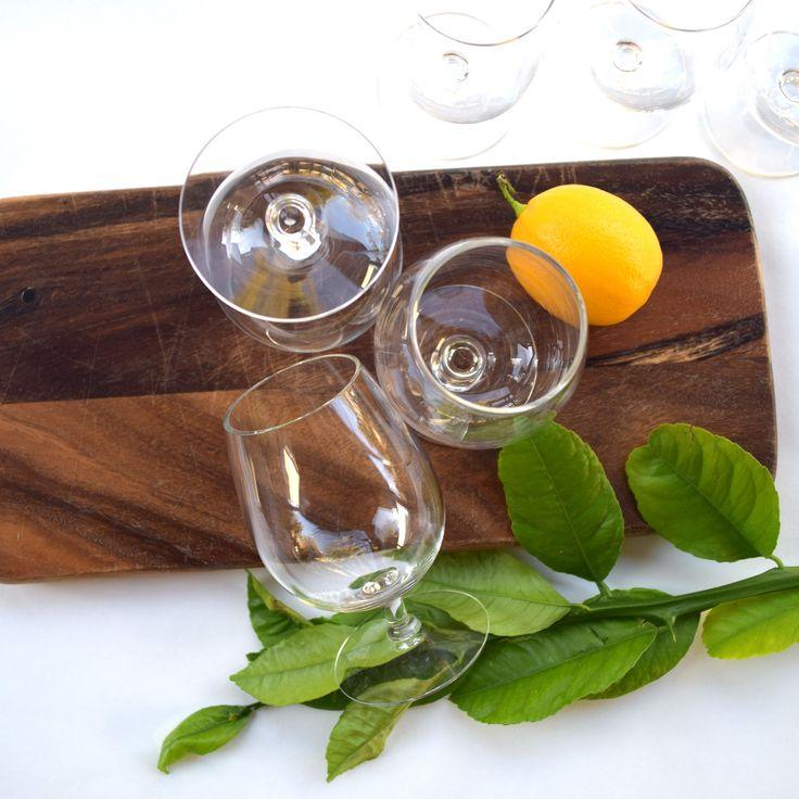 Vintage brandy glasses set of 6 bar glasses clear stemmed