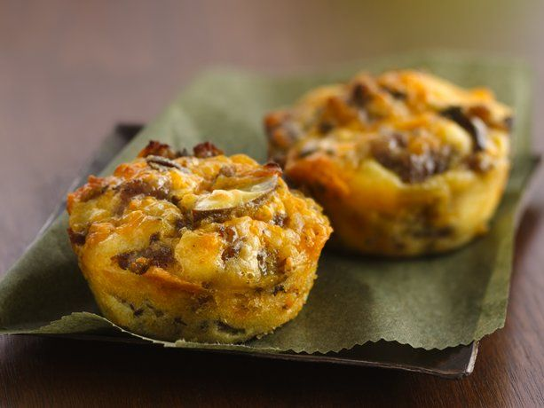 Impossibly Easy Mini Breakfast Sausage Pies-use carbquik, cream