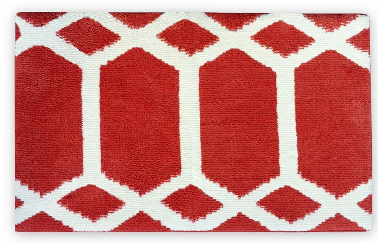 Memory Foam Red Bath Mat