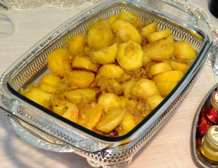 Soğanlı Patates, Zerdeçallı- Potatoes W/ Onion & Turmeric