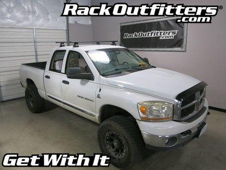 Dodge Ram 1500 Quad Cab Thule Rapid Traverse BLACK AeroBlade Roof Rack '02-'08