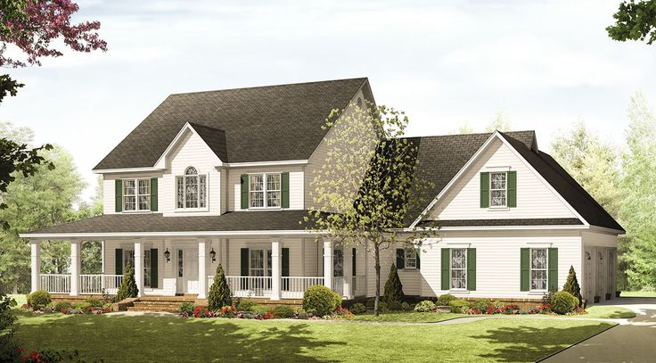 Country Beauty with Wraparound Porch - 51059MM   1st Floor Master Suite, Bonus Room, CAD Available, Corner Lot, Country, Den-Office-Library-Study, Farmhouse, Media-Game-Home Theater, PDF, Photo Gallery, Traditional, USDA Approved, Wrap Around Porch   Architectural Designs