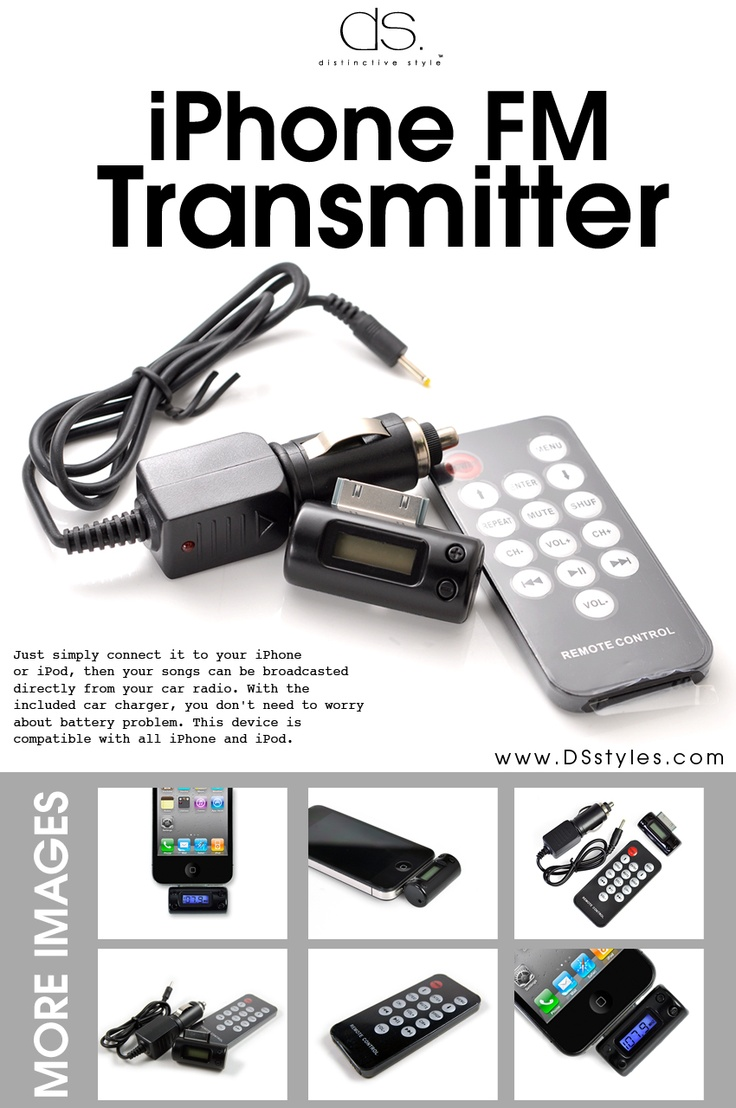 iPhone FM Transmitter for #Car , OFF Price $5.51    Check it out!  http://www.dsstyles.com/accessories/iphone-accessories-iphone-fm-transmitter-black.html    Support iPod, iPhone and iPad !!!