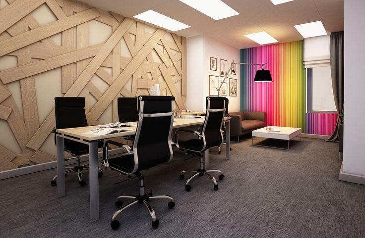 Дизайн интерьера офиса - кабинет директора и мини переговорная.