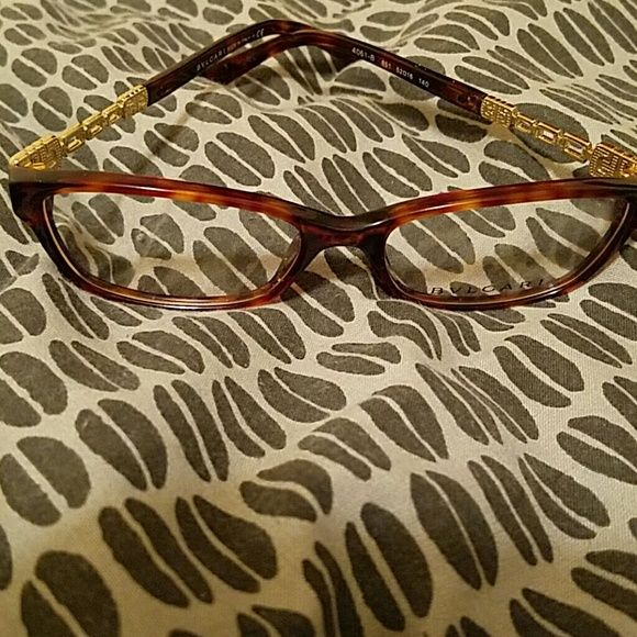 Authentic Bvlgari Eyewear Tortoise shell colored frames with stones and design on arm Bvlgari  Accessories Glasses
