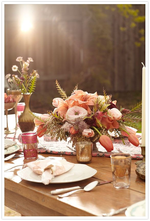 bohemian table design - prob the most gorgeous table setting ever.