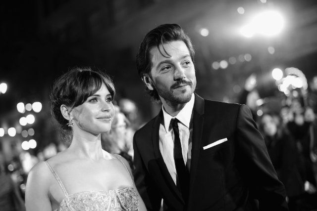 Felicity Jones and Diego Luna at Rogue One: A Star Wars Story (2016)