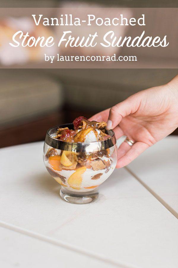 Edible Obsession: Vanilla-Poached Stone Fruit Sundae