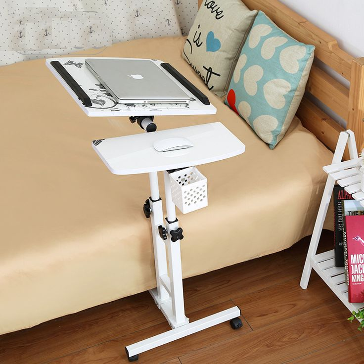 Foldable Rotate Computer Table Adjustable Laptop Table Foldable Standing Notebook Comter Bed Desk Mobile Lifting