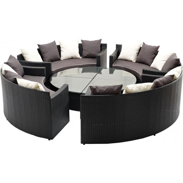 luksus lounge sofa s t polyrattan havem bler i 8 dele. Black Bedroom Furniture Sets. Home Design Ideas