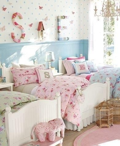 Cameretta Azzurra Cute Cottage Dreams Girl Room