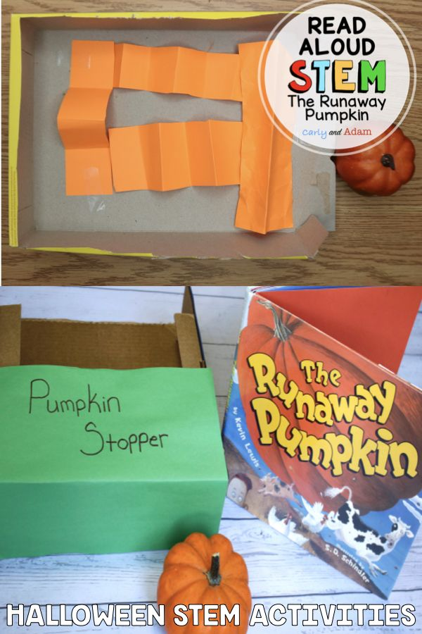 The Runaway Pumpkin Halloween STEM Activities and Challenges for Kids by Carly and Adam