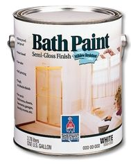 Bath Paint Is Specially Formulated To Provide A Mildew Resistant Finish In Humid Environments