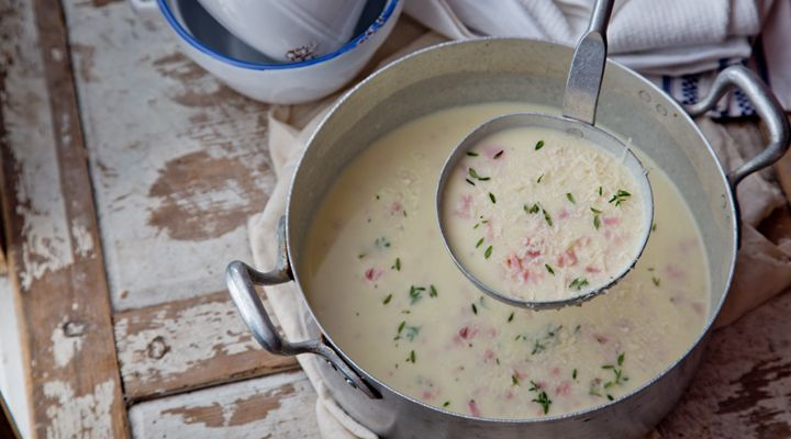 Potato, Bacon and Parmesan Soup #FedericoReizzo #GoodFoodKarma #SuperValu #Recipe