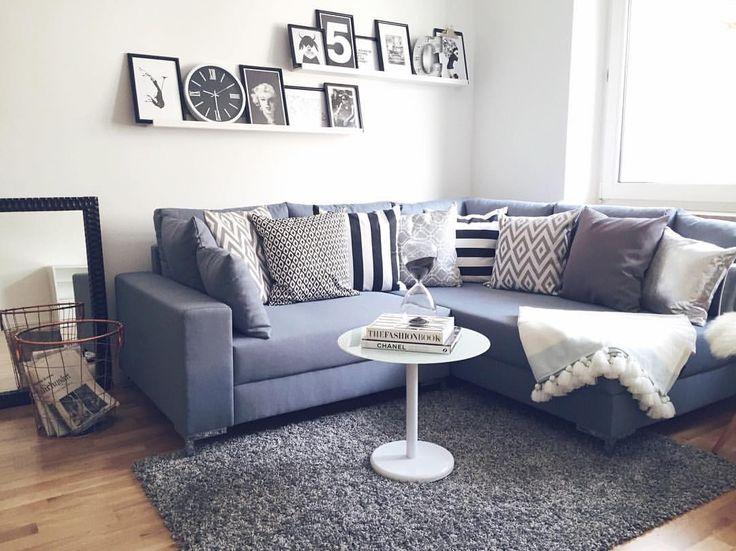 Langsam aber sicher wird die neue Wohnung bezugsfertig!  Die Sofa-Ecke mit dem Sofa von @impressionen_versand gehört auf jeden Fall zu meinen Lieblingsecken!  Dankeschön an meine Mami @redfox_1.0 für die tatkräftigen Unterstützung! ❤️