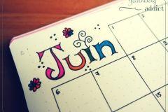 bullet maandelijkse krant pagina-indeling maandelijkse spread Bujo