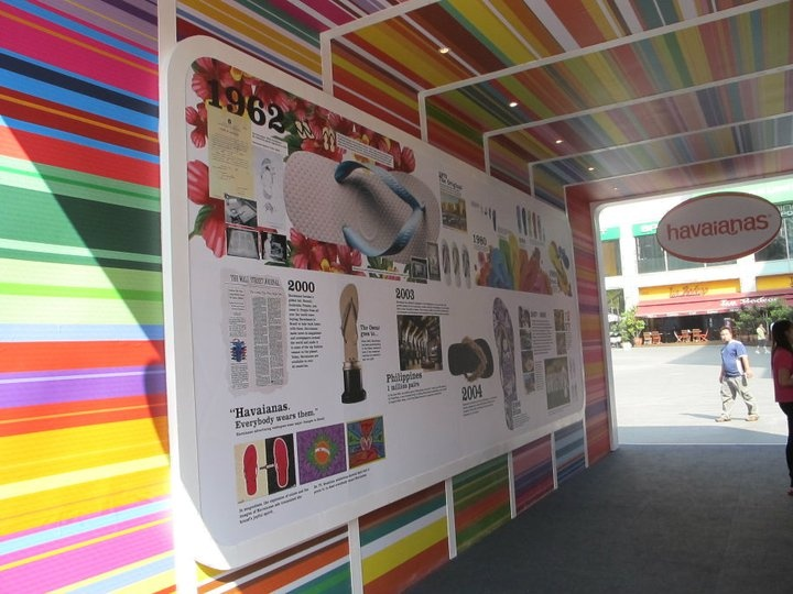 Havaiana's pop up store in Singapore
