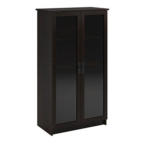 products for book lovers u003e altra furniture quinton point glass door bookcase espresso