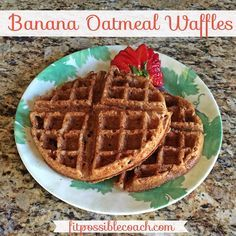 21 Day Fix Approved: Banana Oatmeal Waffles. Make sure you REPIN to save this…