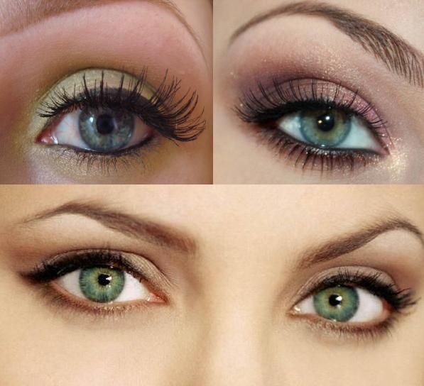 Light Party Makeup for Green Eyes