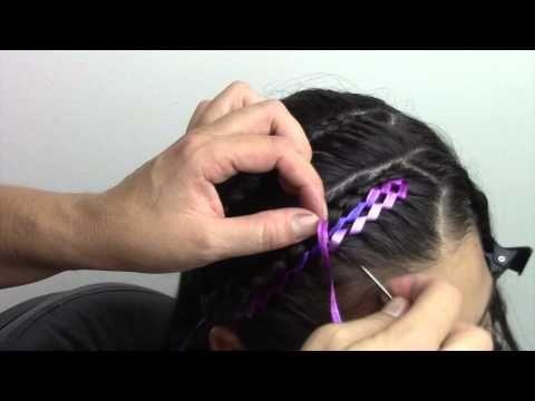 Peinado facil con cinta para niña!! - YouTube