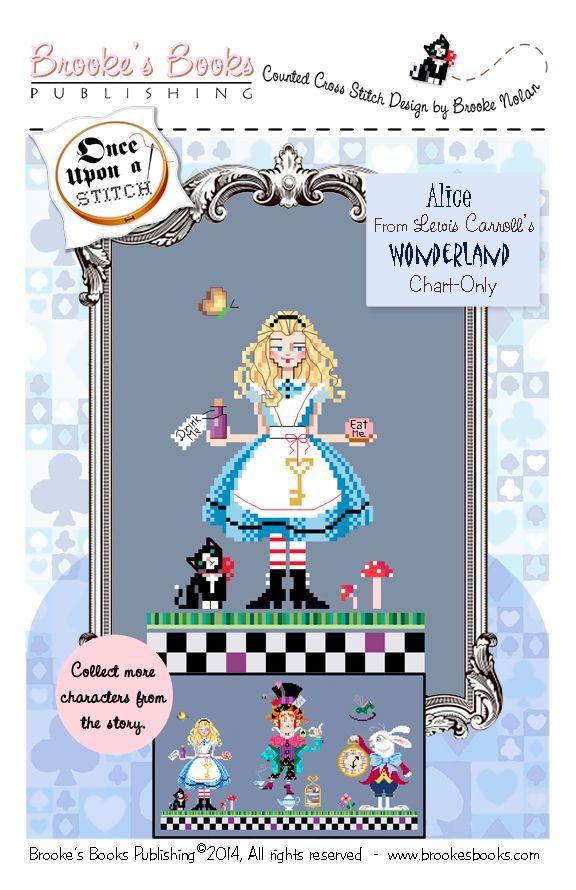 Alice from the Brooke's Books Wonderland Cross Stitch Collection by Brooke Nolan. http://www.craftsy.com/user/1333992/pattern-store?_ct=fhevybu-ikrdql-fqjjuhdijehu