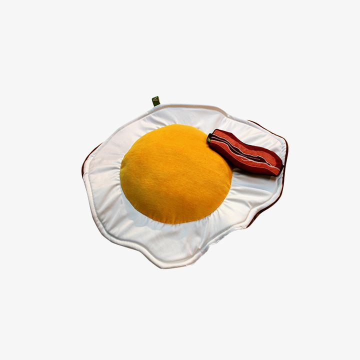 English Breakfast Set - Fried Egg Cushion & Bacon Eye Mask