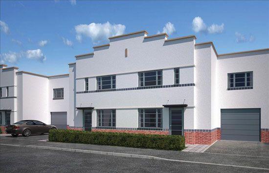 New-build art deco-style property in Northampton, Northamptonshire