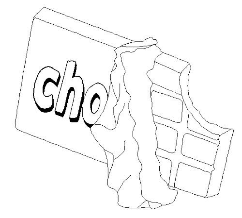 chocolate brownie coloring pages - photo#29