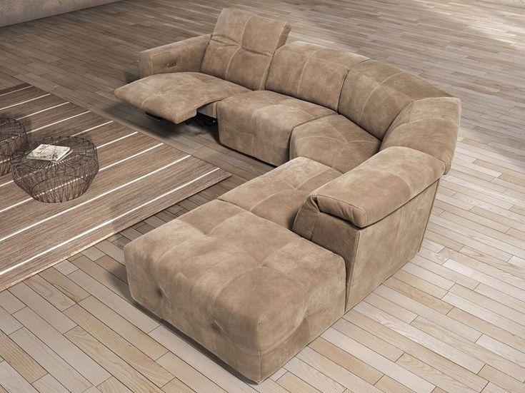 Corner sofa with chaise longue SAUVANNE by Egoitaliano