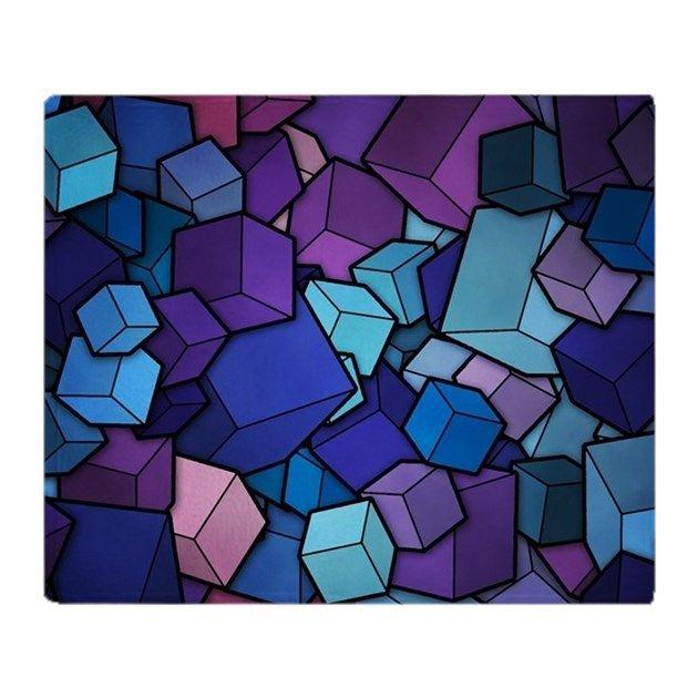 Abstract Blocks Throw Blanket