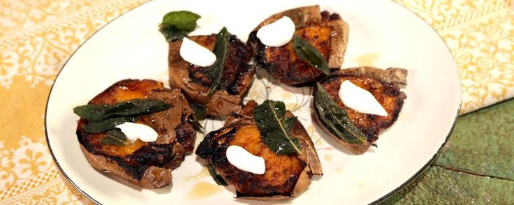 Saw thesemade on The Chew & they looked & sounded like they would be to die for. MICHAEL SYMON Crispy Sweet Potatoes with Brown Butter and Sage