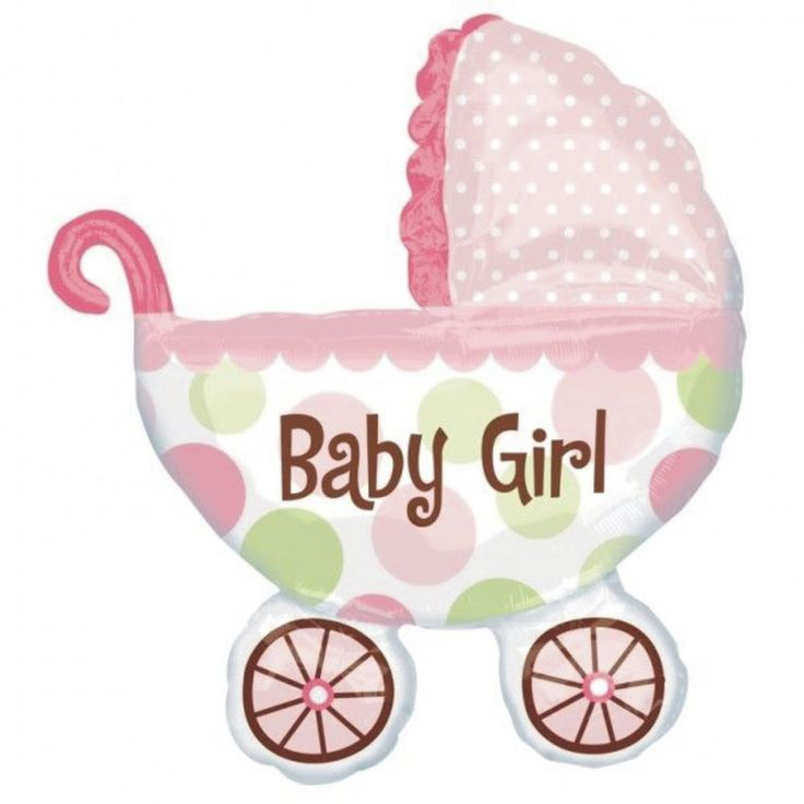 BABY SHOWER NEW BABY GIRL DECORATION 31  GIANT FOIL HELIUM BALLOON PINK PRAM