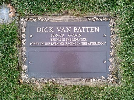 Grave of Dick Van Patten at Forest Lawn Memorial Park, Hollywood Hills.