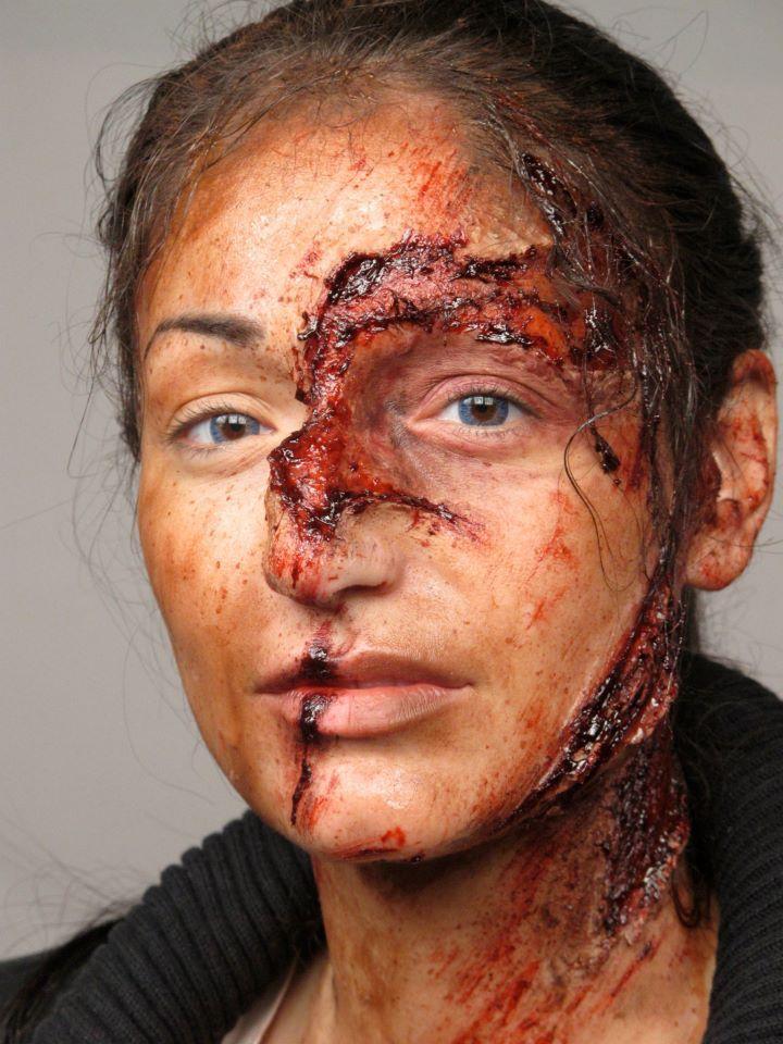 When walking your pet werewolf goes awry! Makeup by Julia Chemij, #cms #cinema #makeup #school