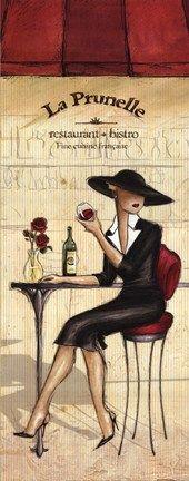 Bistro Fine Art Print by Andrea Laliberte at FulcrumGallery.com