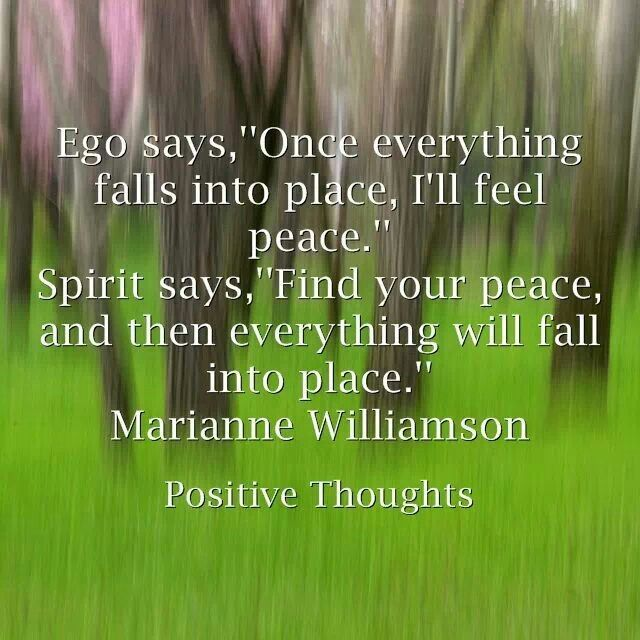 Ego vs spirit...I love Marianne Williamson!