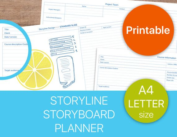 Productivity planner. make a great Storyboards and e-learning projects.
