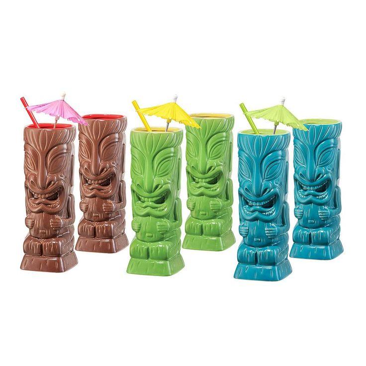 Oggi 6-pc. Tiki Glass Set, Multicolor