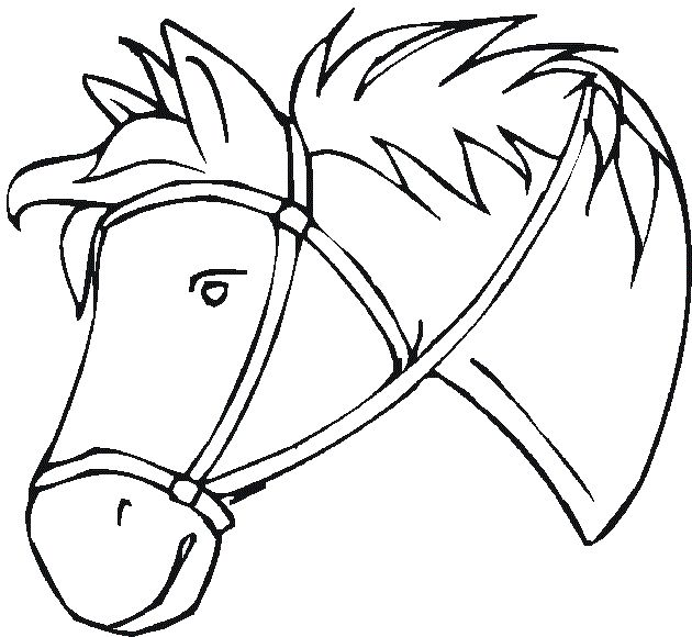 coloring pages horse head - photo#37